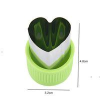 New Star Heart Shape Verdure Taglierina Plastica Maniglia 3 PZ Strumenti portatili Cook Attrezzi in acciaio inox Taglio della frutta Die Kitchen Gadget EWE7417