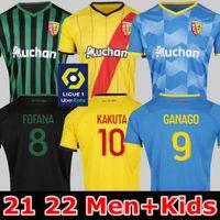 21 22 Maillot RC Lens Futbol Formaları Kakuta Ganago Sotoca Fofana Gradit Fortes Banza Cahuzac Doucoure 2021 2022 Futbol Gömlek Tops Erkekler Kids Kits Ekipmanları Ev Uzakta