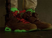 Travis Scott Authentic 6 British Khaki Zapatos al aire libre Cactus Jack Suede Glow en los Hombres Oscuros SB 1S High Chicago Fragment Doker Sneakers con caja original