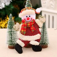 Christmas Decoration Home Outdoor Tree Accessories Dancing Old Man Snowman Animal Small Fabric Doll Hanging Crafts Gifts Cloth NHD8884