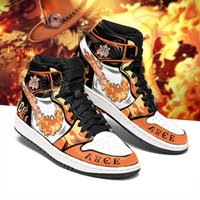 DIY Anime Sneakers portgas-d-ace Mens Womens Sports Shoes Jumpman 1 Model Custom Trainers Casual Running-Shoes