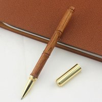 Gel Pens Luxury Gold Mahogany Ballpoint Pen Metal Copper Flow Oil Ball Point For Writing School Office Chancery Roller