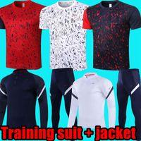 2020 2021 프랑스 훈련 정장 재킷 긴 소매 짧은 소매 키트 남자 정장 훈련 착용 축구 유니폼