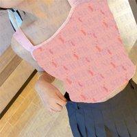 Moda Bayan T Shirt Tankları Giyim Seksi Omuz Kızlar Tees Tops Tasarımcılar Mektup Kadınlar Tshirt Knits
