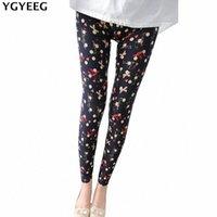 ygyeeg 여성 레깅스 Pantalones 검은 우유 인쇄 레깅스 여름 스타일 소프트 스킨 소재 20 색 여성 레깅스 여성 바지 D8oz #