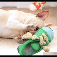 Toys Chews Supplies Home & Garden Drop Delivery 2021 Creative Plain Slippers Pet Voice Toy Dog Biting And Grinding Teeth Cleaning Dollrmse Xv