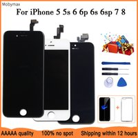 2021 LCD Display For iPhone 6 Check&Test Touch Screen Replacement for iPhone 5 5s 6plus 6s 7+Tempered Glass+Tools+TPU Case