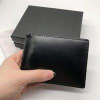 Короткие повседневные коробки кожаные роскоши 2021Luxury Credit Pocket Discount с высоким кошельком Карта качества двойной тонкий держатель черный Premium Men's GQBTD