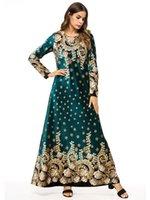 Muslim Dress Women Fashion Long Sleeve Printed Velvet Big Plaid Robe Abaya Dubai Turkey Dresses Ethnic Clothing