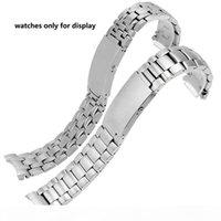 Peiyi Watchband الصلبة الفولاذ المقاوم للصدأ معصمه 20MM استبدال حزام الصلب الذكور ووتش الملحقات ل أوميغا 007 CJ191225