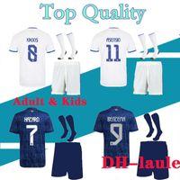 2021 2022 Real Madrid Soccer Jersey Hazard Homens e Kits Kits com Meias 21 22 Camisa de Futebol Asensio Modric Isco Criança Socceres Conjuntos