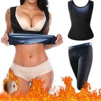 Sweat sauna suit sportwear fitness yoga clothes Men women wokout leggings outfit Gym workout tank top sports set yoga pants