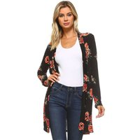 autumn Lady Women's Fall Long Sleeve Floral Print Kimono Cardigan Blouse Shawl Tops Cape for a swimsuit kimono cardigan blusas