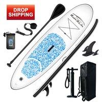 Funwater Drop Ship Livraison dans un rayon de surf de 7 jours 305 * 76 * 15cm Board de fond gonflable Paddle Board en gros SUP Paddleboard Eau Sport d'eau
