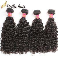 Bella Hair Brazilian Hair Bundles Curly Virgin Human Hair Weft Extensions Curly Weaves 4pcs lot Bundles Wholesale in Bulk