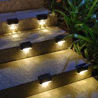 Luzes conduzidos Luzes Solar Passo Luz Lâmpadas Ao Ar Livre Fence Escada Auto À Prova D 'Água Lâmpada de Escada Crestech