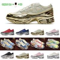 [مربع الأصلي + الجوارب + علامة] تفضيليةadidas X Raf Simons Ozweego Cream White Silver Metallic joint casual sneakers