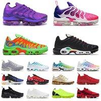 Nike Air Vapormax Tn Airmax Plus Max Moc Flyknit Off White أحذية الجري للرجال Tns ثلاثية أسود أبيض أخضر أرجواني أحمر أحذية رياضية للرجال والنساء  أحذية