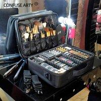 Nuevo Organizador de maquillaje vacío profesional de alta calidad Bolso Mujer Cosmetic Case Viajes Capacidad de gran capacidad Bolsa de almacenamiento Suitcases