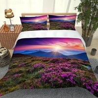 Bedding Sets Nature Set Purplue Duvet Cover Country Bedroom SetsKids Teens Bed Natural Scenery HomeTextile Lavender Beding