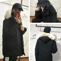 Top Qualité Mode Hommes Veste d'hiver Homme thermique extérieur Parkas coupe-vent étanche Real Wolf Fourrure de fourrure à capuche de chapeau détachable Chapeau de chapeau 5style à choisir