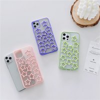 Epoxy Hollow star phone cases For iPhone11 12 pro promax X XS Max 7 8 Plus