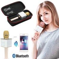 Portátil Q7 Bluetooth Microfone Sem Fio Handheld Karaoke Mic Music Player Cantando Recorder KTV Microfones para iPhone Samsung