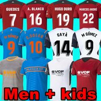 21 22 Valencia CF Futbol Formaları VCF Üçüncü 4. Jersey 2021 2022 Guedes Gameiro Camisetas De Fútbol C Soler Florenzi M.Gómez Erkekler Çocuk Futbol Gömlek Üst Üniforma Hugo Duro