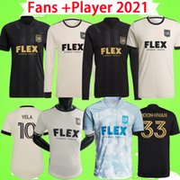 NEW 2020 LAFC Carlos Vela Soccer Jerseys 2020 2021 ZELAYA ROSSI Los Angeles FC Black MLS Parley Primary WHITE 20 21 Maillots de foot