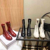 En mükemmel tasarım moda ön fermuar kısa çizmeler 4.5 cm uzun boylu beyaz siyah kırmızı tüm yarım önyükleme boyutu ile seksi sıralama