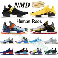 2021 nmd homens de raça humana executando sapatos hu pharrell pacote solar vermelho laranja mãe escarla esmeralda espécies brancas mulheres negras sneakers treinadores esportivos