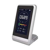 Mats & Pads Professional Carbon Dioxide Detector Multifunctional Air Quality Monitor Gas PM2.5 HCHO TVOC Tester CO2 Meter