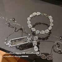 Bright luminescent link chain for women large zircon bracelet plated with 18K gold irregular droplet shape stone adjustable bracelets