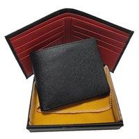 الألمانية نمط رجل محفظة بطاقة حامل حقيبة الأعمال حقيبة جلد عالية الجودة المحمولة عملة محفظة الأحمر والأزرق مربع مربع مجموعة