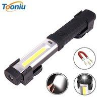 COB rechargeable Travail léger LED avec un aimant puissant et un crochet approprié pour le camping, la maintenance, etc. Lampes de poche torches