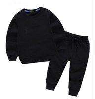 Designer Fashion children's clothing designer Spring and autumn clothing sets designer kids clothes baby boy girl round neck two-piece long-