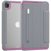 Heavy Duty Magnetic Smart Buckle Cover Cases HD Clear Back Arcylic Building In Screen Protector Auto Sleep Awake FOR IPAD 10.2 PRO 9.7 70PCS LOT