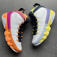 مع مربع تغيير العالم 9S الرجال أحذية كرة السلة أبيض الصحراء التوت شفاء البرتقال الصبار زهرة 9 الرجال المدربين الرياضة رياضة CV0420-100 جودة عالية 40-47