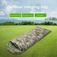 Sleeping Bags Winter Bag Single Person Zip Hiking Camping Equipment Warm Envelope Waterproof Outdoor Tourism