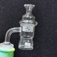 Newest 3mm Thick 25mm XL Splash Quartz Banger Nail 10mm 14mm 18mm Male Female 45 90 Cyclone Spinning Carb Cap and Terp Pearl Insert For Dab Rig