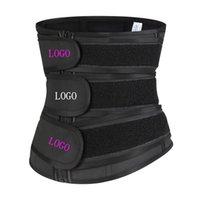 Women's Shapers 2021 Custom Logo Compression Long Adjustable 3 Belt Slimming Tummy Control Workout Back Support Strap Latex Waist Trainer