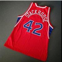 Özel Bay Gençlik Kadın Vintage Jerry Stackhouse Vintage Şampiyonu Koleji Basketbol Forması Boyutu S-4XL veya Özel Herhangi Bir Ad veya Numara Forması