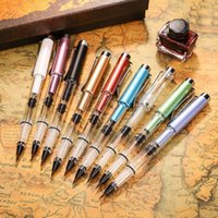 Fountain Pens FangNymph High Quality Tap Water Soft Pen Colorful Piston Brush Large Capacity Ink Storage Student Stationery
