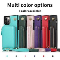 Shockproof Phone Cases for iPhone 12 11 Pro Max X XS XR 7 8 Samsung Galaxy S20 Note20 Ultra Note10 S10 Plus Coin Purse PU Leather Stand Protective Case