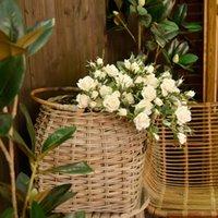 Dekoratif Çiçekler Çelenk Bir Demet Güller Yapay Bitki Sahte Wending Bahçe Festivali Düğün Ev Süslemeleri Çekim Sahne