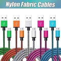 Cavi USB Treccia in tessuto in nylon per Type C Cavo di sincronizzazione per sincronizzazione in rame Mirco Cavo USB per Samsung Universal Cellphones con borsa opp