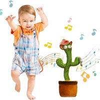 Favor do Natal dançando falando canto cacto pelúcia brinquedo de pelúcia eletrônico com canção em vaso brinquedo de educação precoce para crianças brinquedo engraçado para namorado