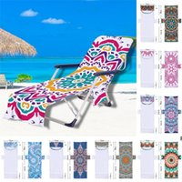 Beach Chair Lounge Towel Cover Chaise Lounges Slipcover with Side-Pockets Soft Fast Drys Microfiber Pool Chairs Accessory DHB5922