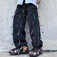 Мужские брюки EWQ / FUNDSTRING DRACKSTRING Casyak Sweasants 2021 прилив High Street Bevaribed свободная широкая нога 9Y3017