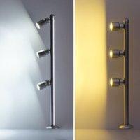 Spotlight LED Mini Poste Montado 110 / 220V Plata y negro 3 * 1W Lámparas de joyería, para joyas Showcase Shop Counter Light S10265